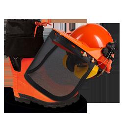 Дополнительная комплектация для защиты от порезов цепной пилой