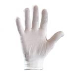 Перчатки нейлоновые без ПВХ белые