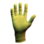 Перчатки нейлоновые с ПВХ желтые