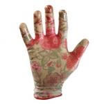 Перчатки нейлоновые с нитриловым покрытием садовые Пионы