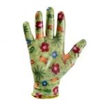 Перчатки нейлоновые с нитриловым покрытием садовые Тропики