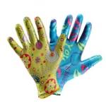 Перчатки нейлоновые с нитриловым покрытием садовые