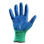 Перчатки нейлоновые с нитрильным покрытием (зелено-синий)