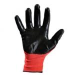 Перчатки нейлоновые с нитрильным покрытием (красно-черный)