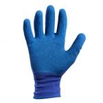 Перчатки нейлоновые с рифленым латексным покрытием (синий-синий)